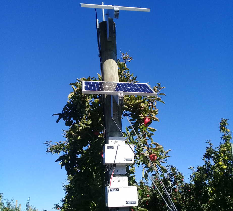 Solar powered irrigation controller and wireless point to point